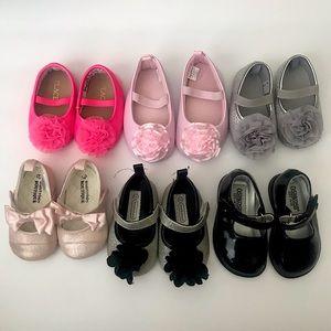 Bundle of baby Girl dress shoes, ballet flats